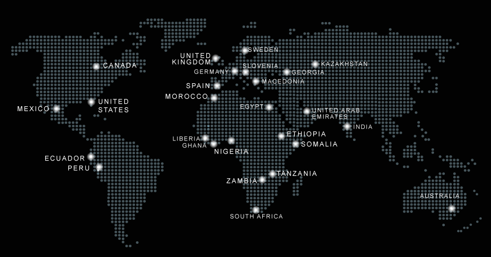 Global Reach Map - Phoenix Global